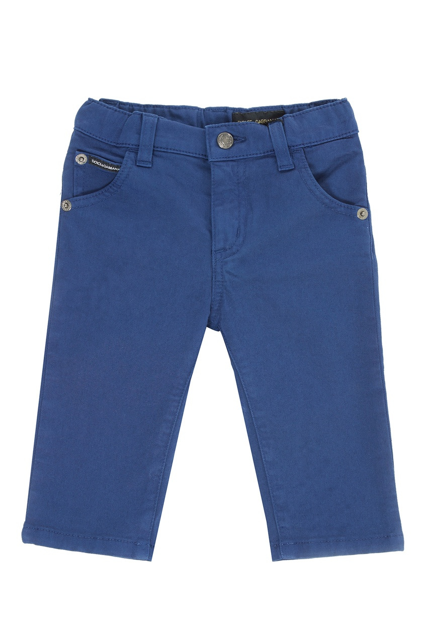 Голубые джинсы из хлопка