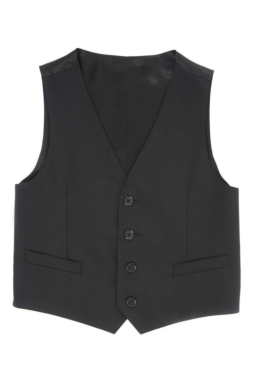 Купить Черный жилет черного цвета