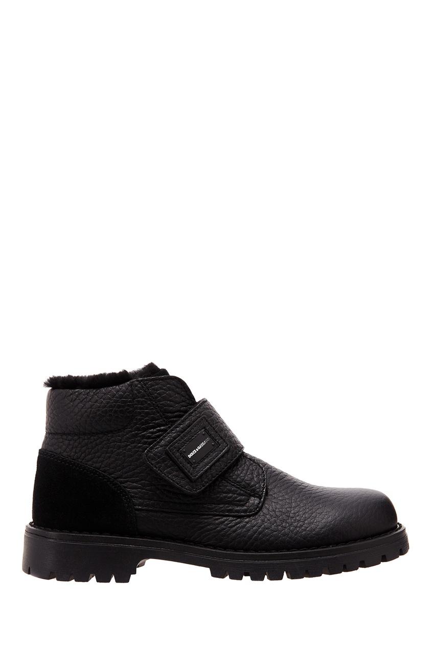 Черные комбинированные ботинки