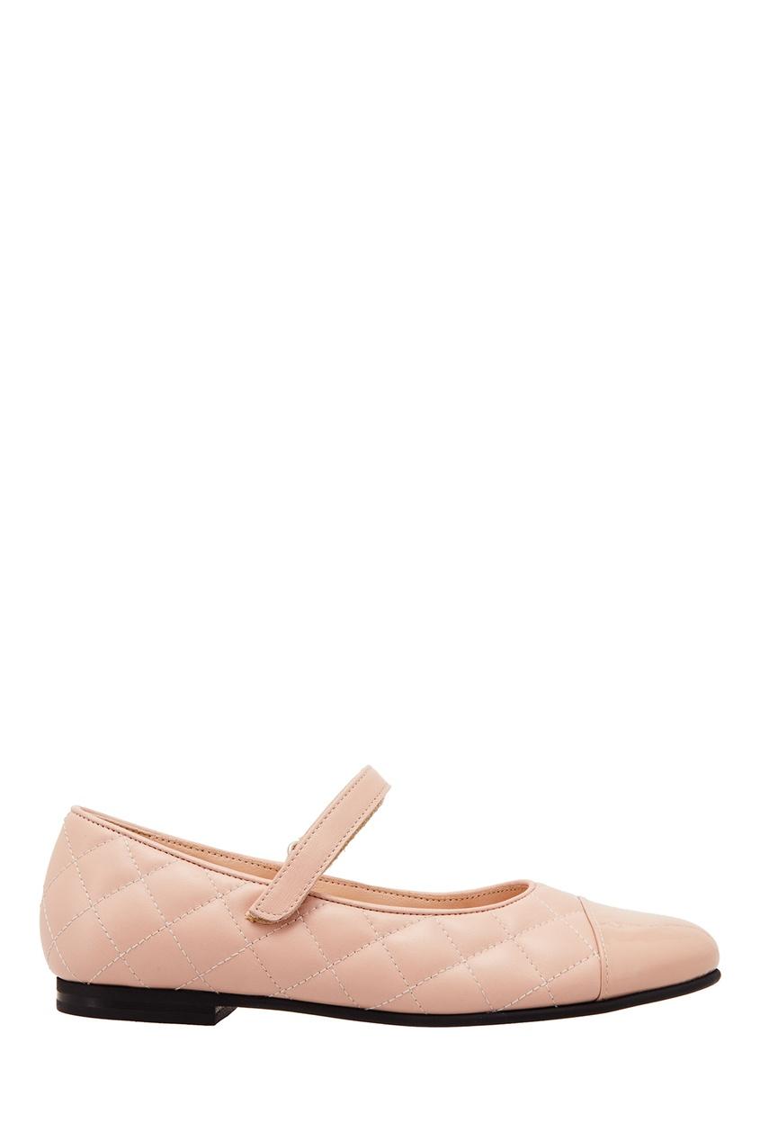 Розовые стеганые балетки от EQUERRY