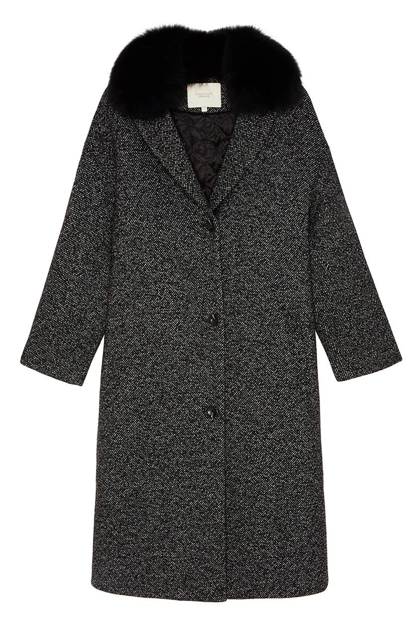 Купить со скидкой Удлиненное пальто с меховым воротником