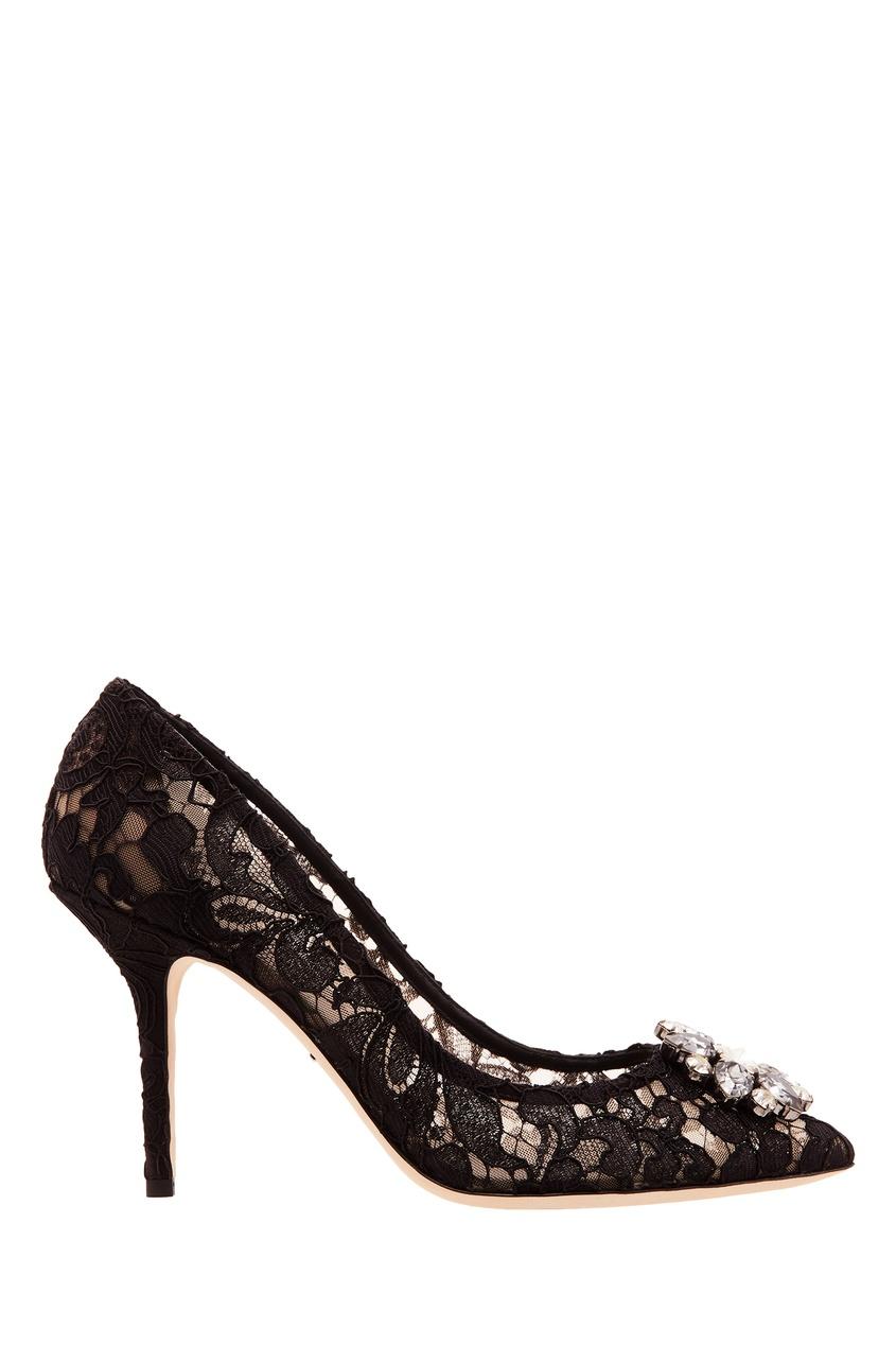 женские туфли dolce & gabbana, черные