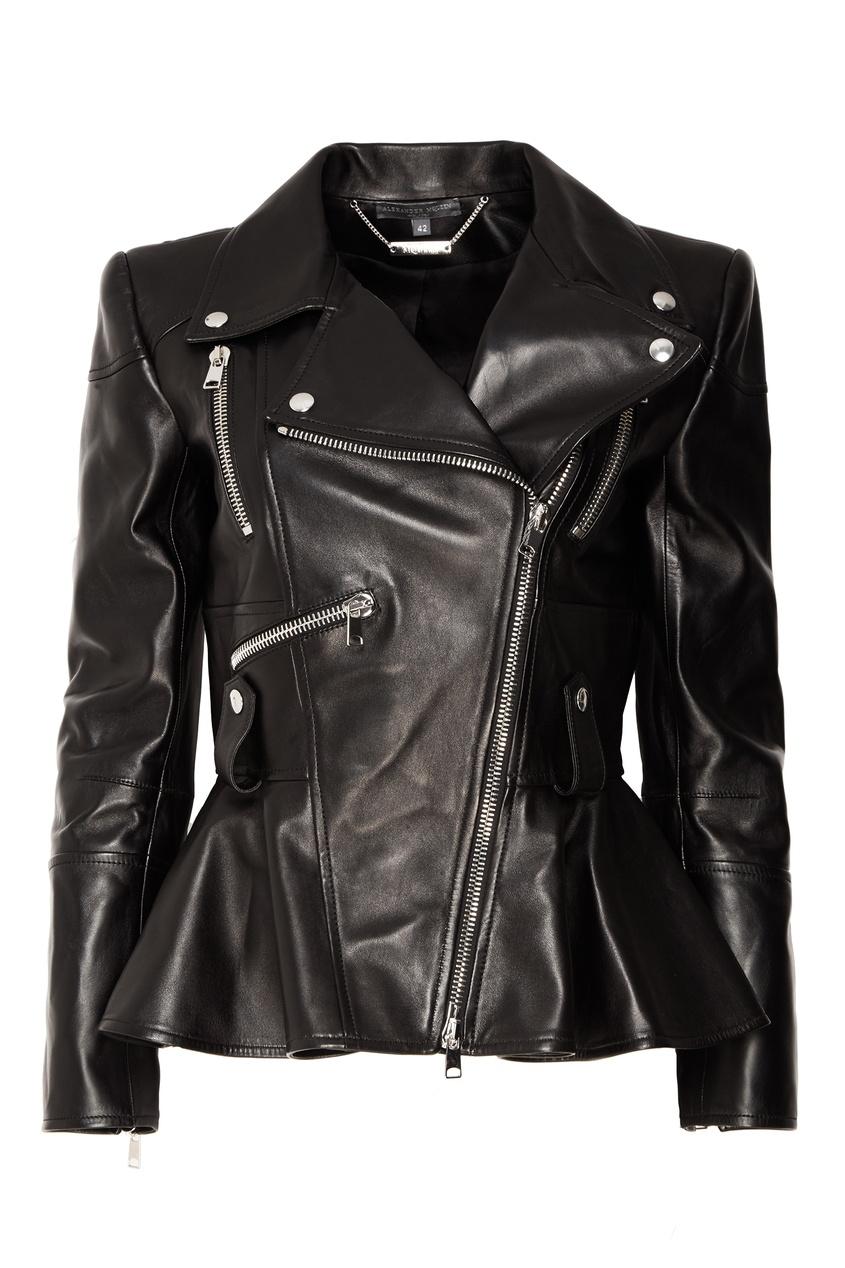 женская куртка alexander mcqueen, черная