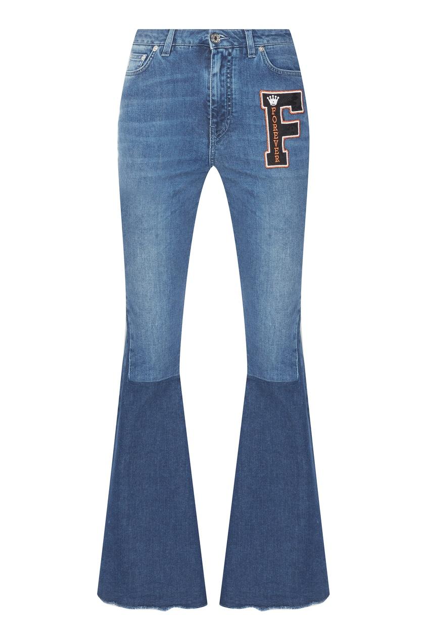 Джинсы-клеш с color block Dolce&Gabbana