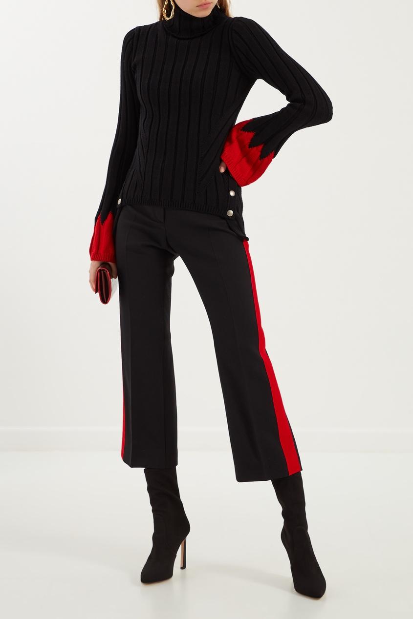 женские брюки alexander mcqueen, черные