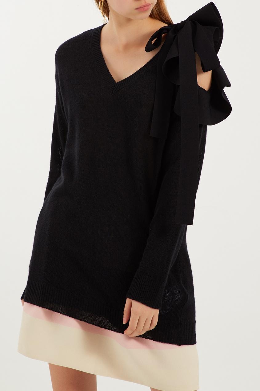 женский пуловер valentino, черный