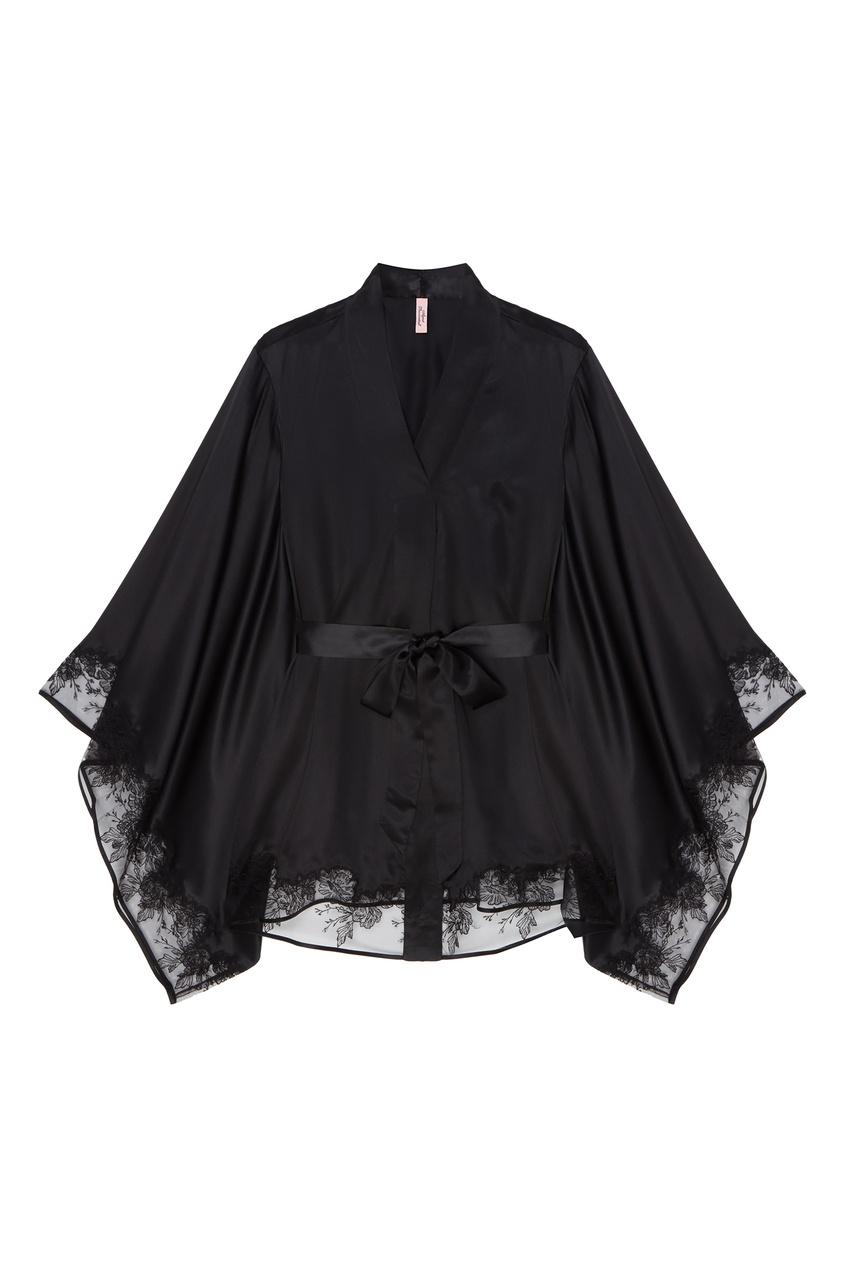 Черный халат-кимоно Gloria1