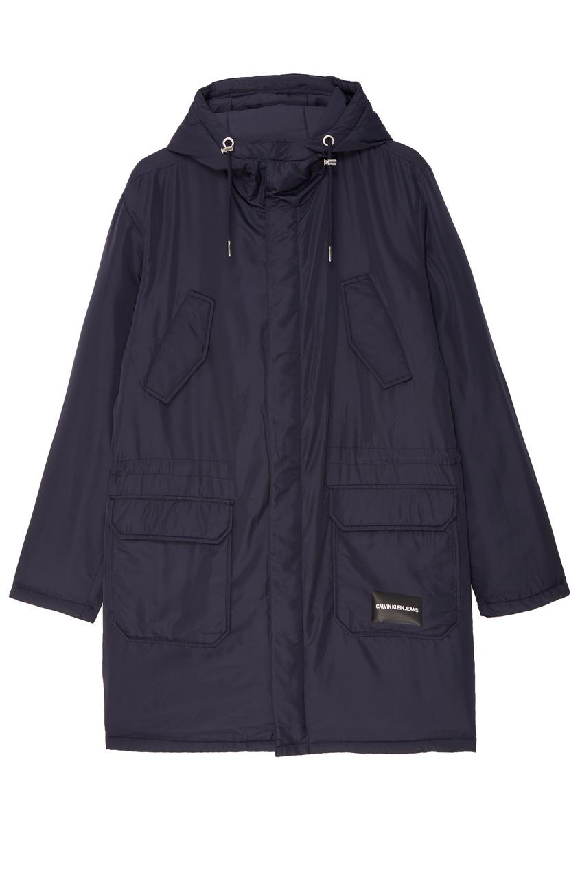 Синяя тканевая куртка Calvin Klein