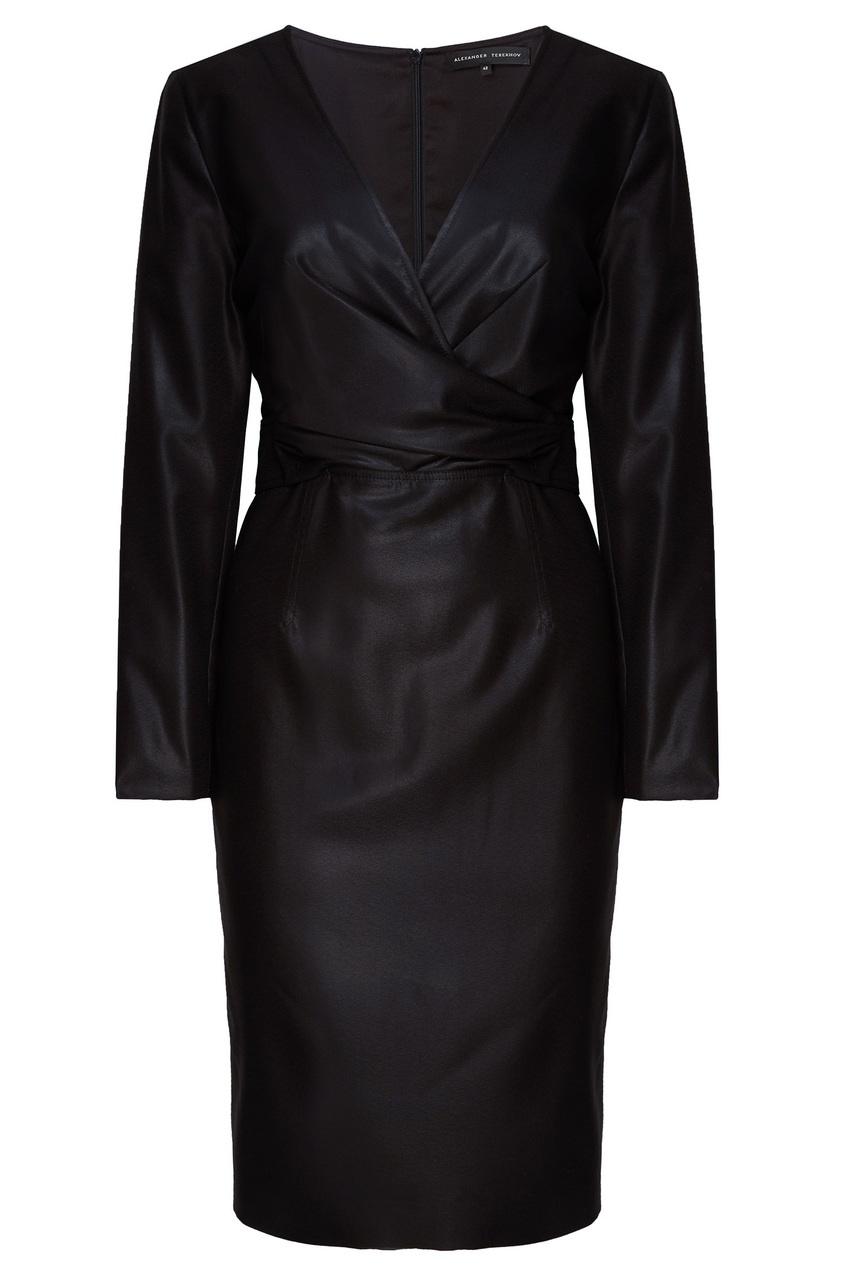 Платье шерстяное черное Alexander Terekhov