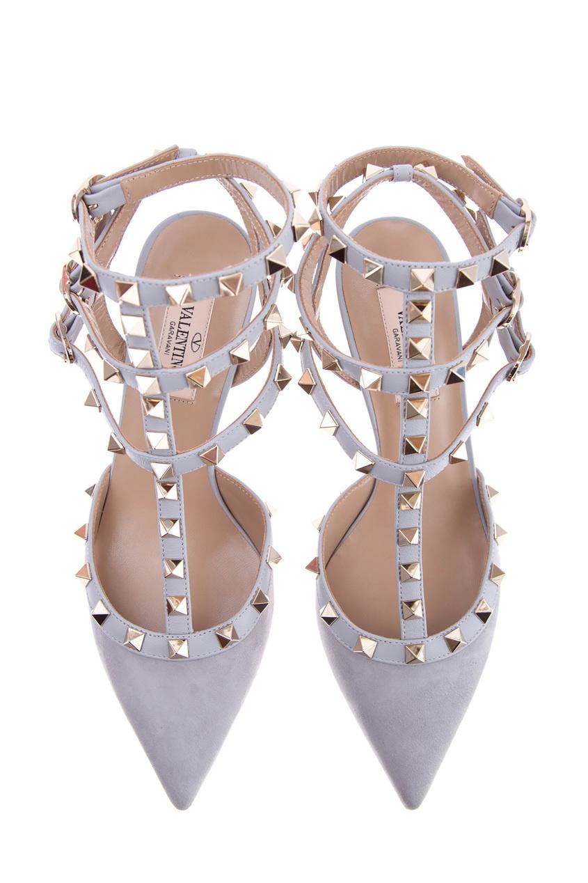 женские туфли valentino, серые