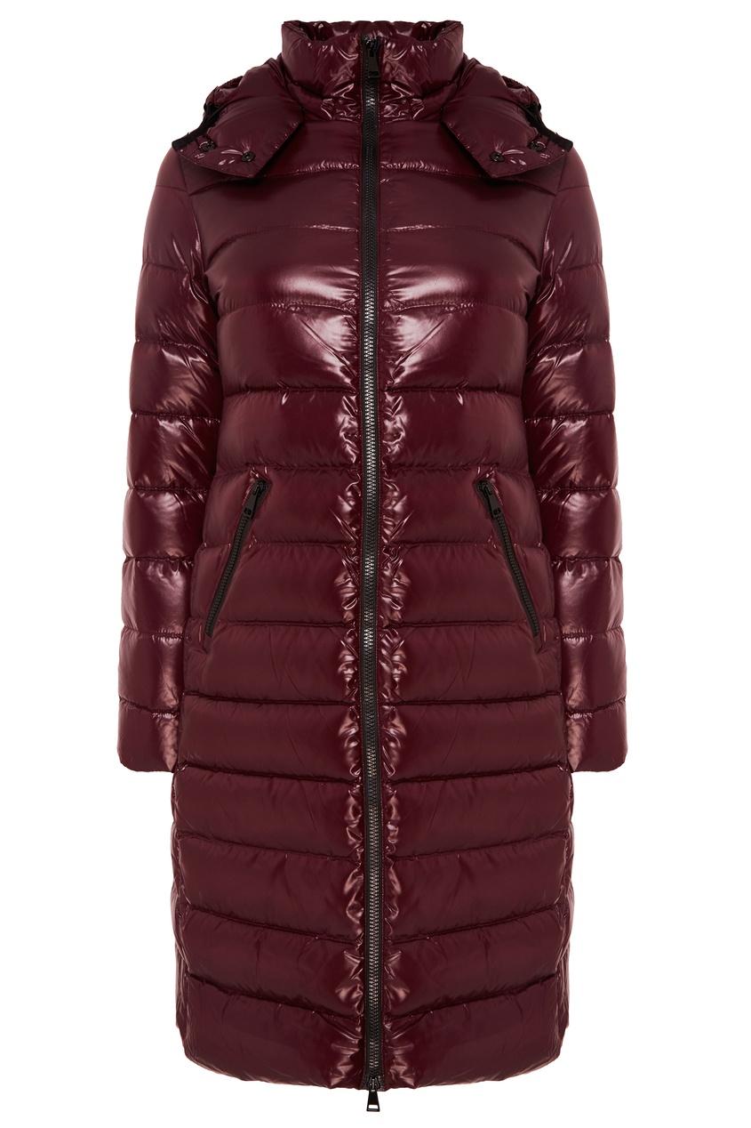 женская куртка moncler, коричневая