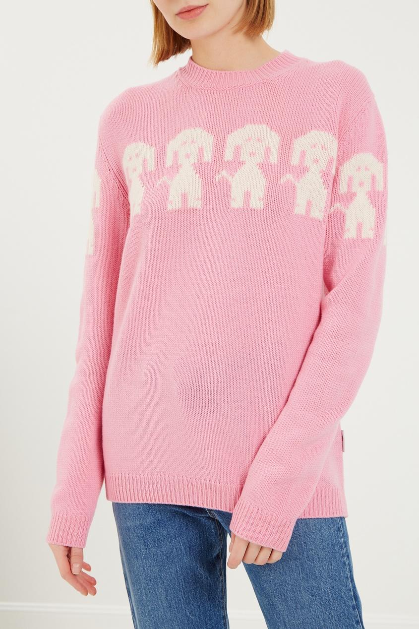 женский джемпер moncler, розовый