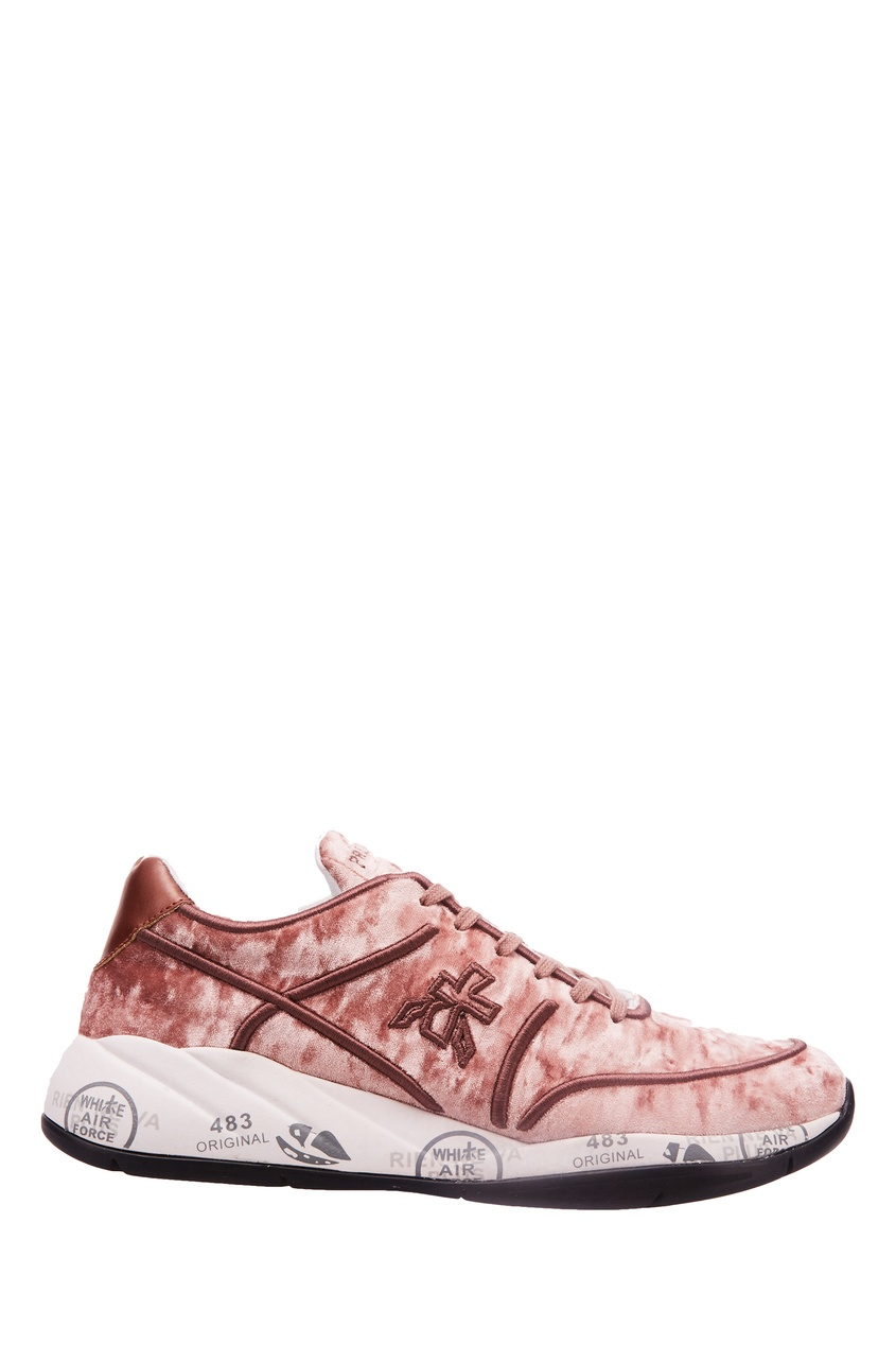Кроссовки Liu из розового бархата Premiata