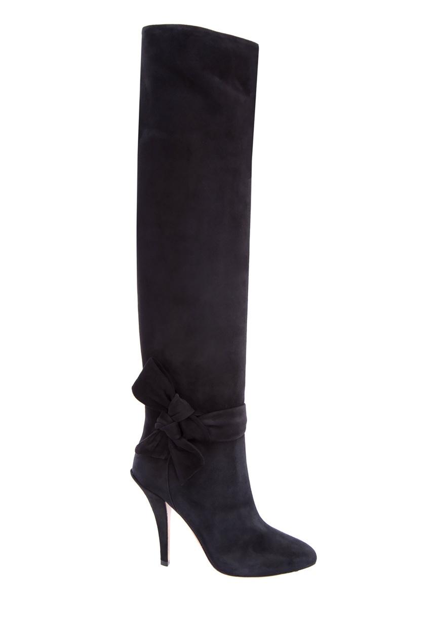 женские ботфорты valentino, черные