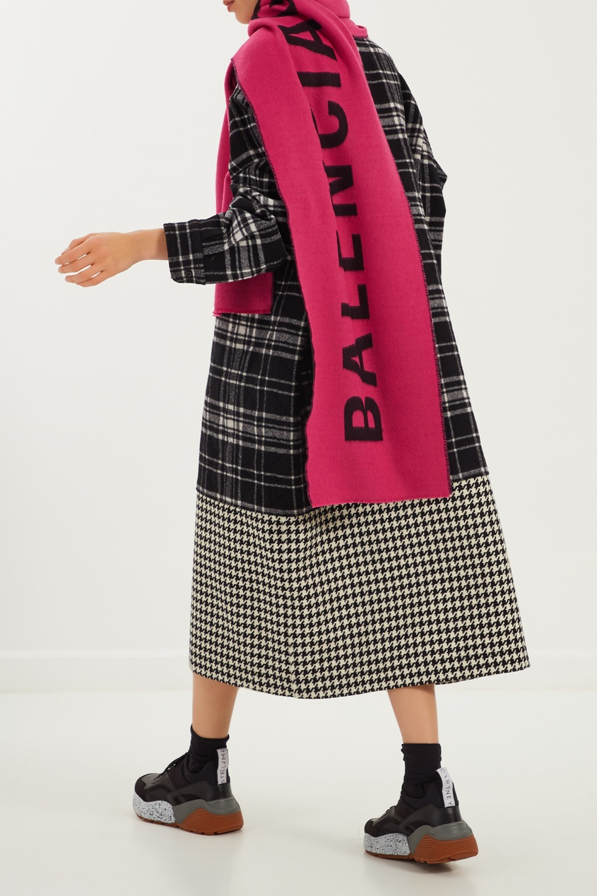 женский шарф balenciaga, розовый