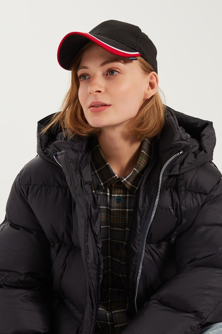 Черная кепка с контрастными полосами от Balenciaga