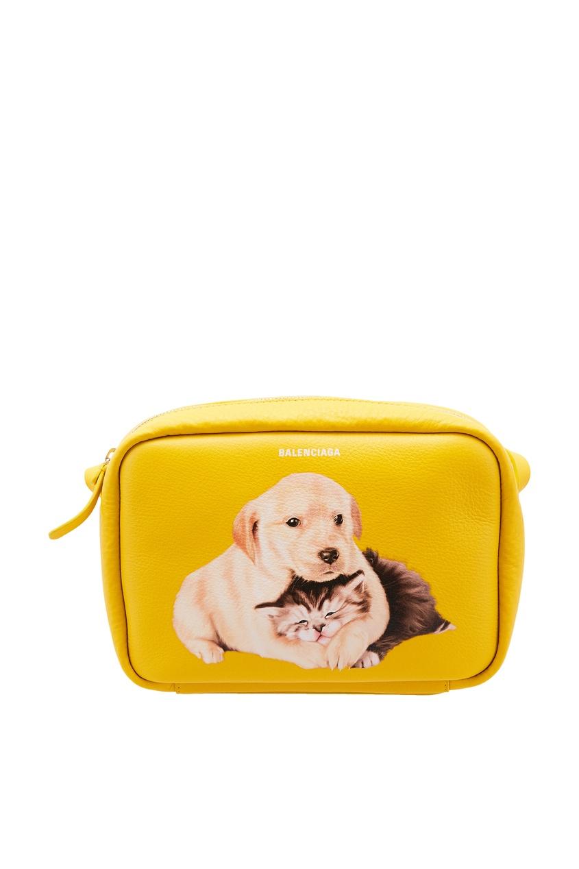 женская сумка balenciaga, желтая