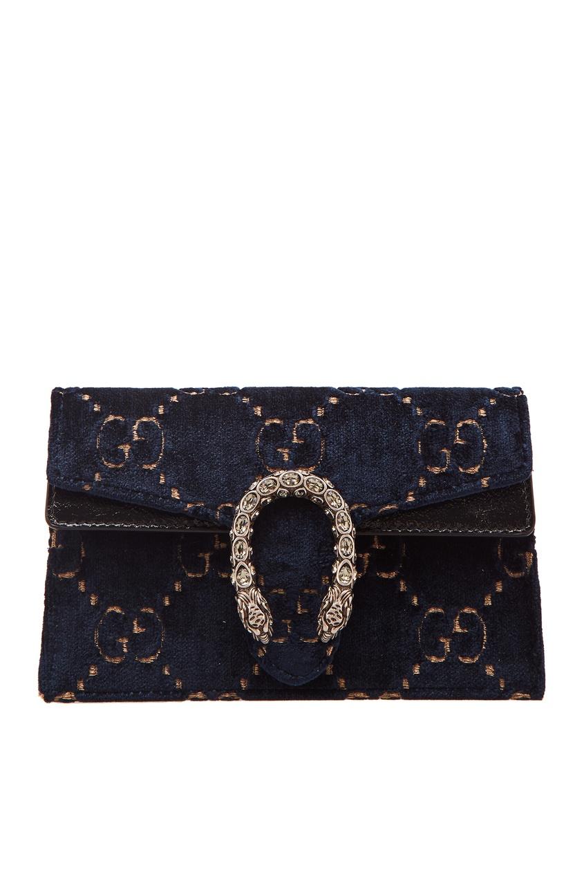 Темно-синяя сумка Dionysus GG small Gucci
