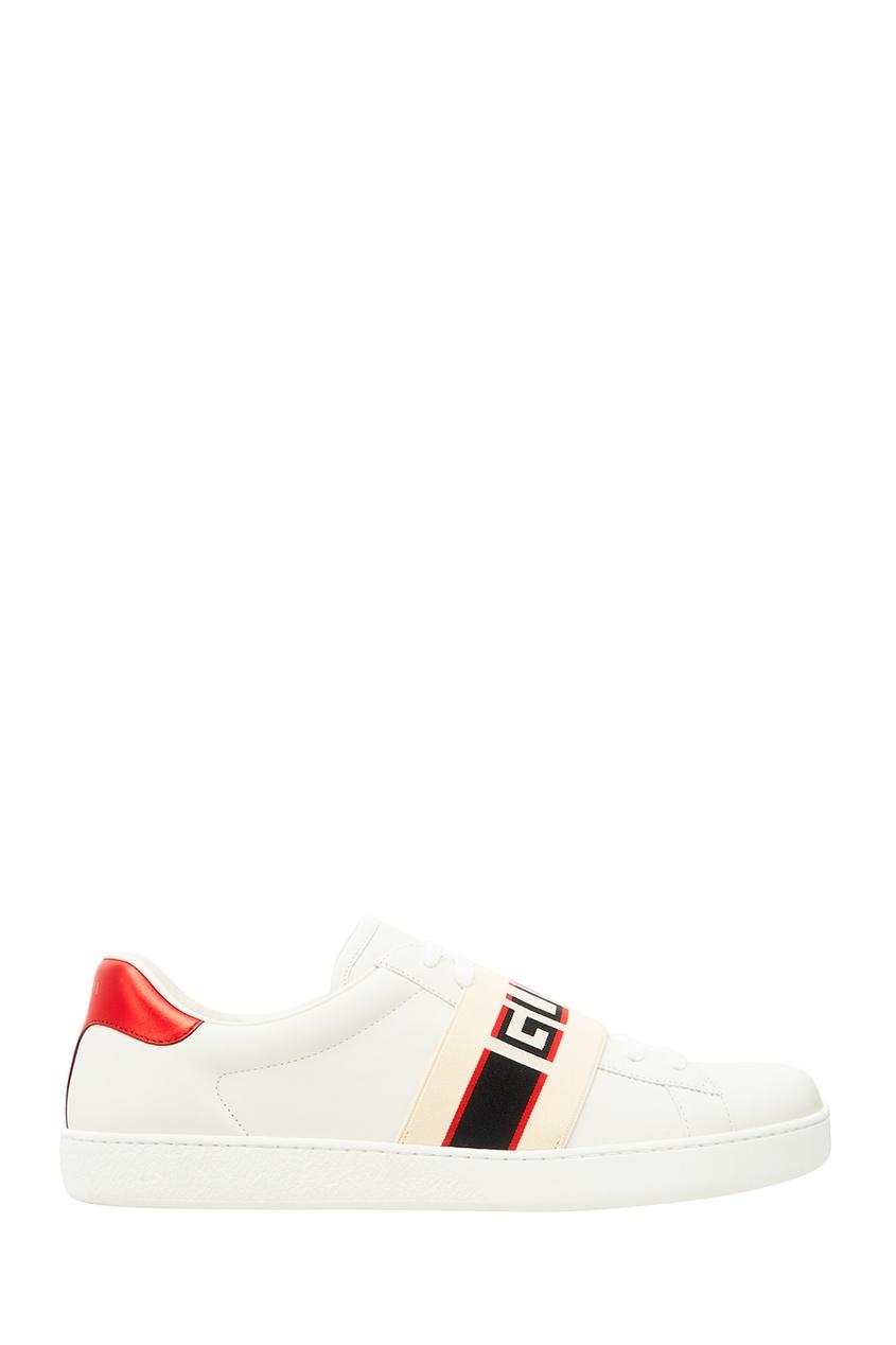 мужские туфли gucci man, белые