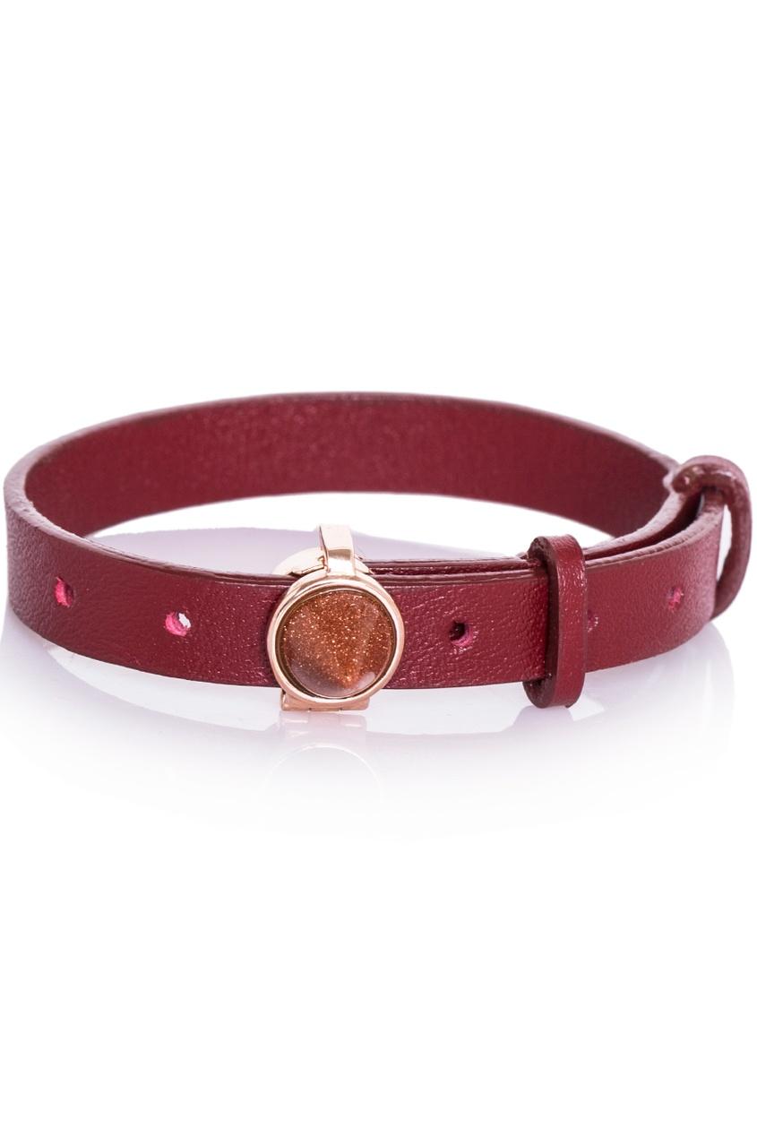 Eddie Borgo Кожаный браслет