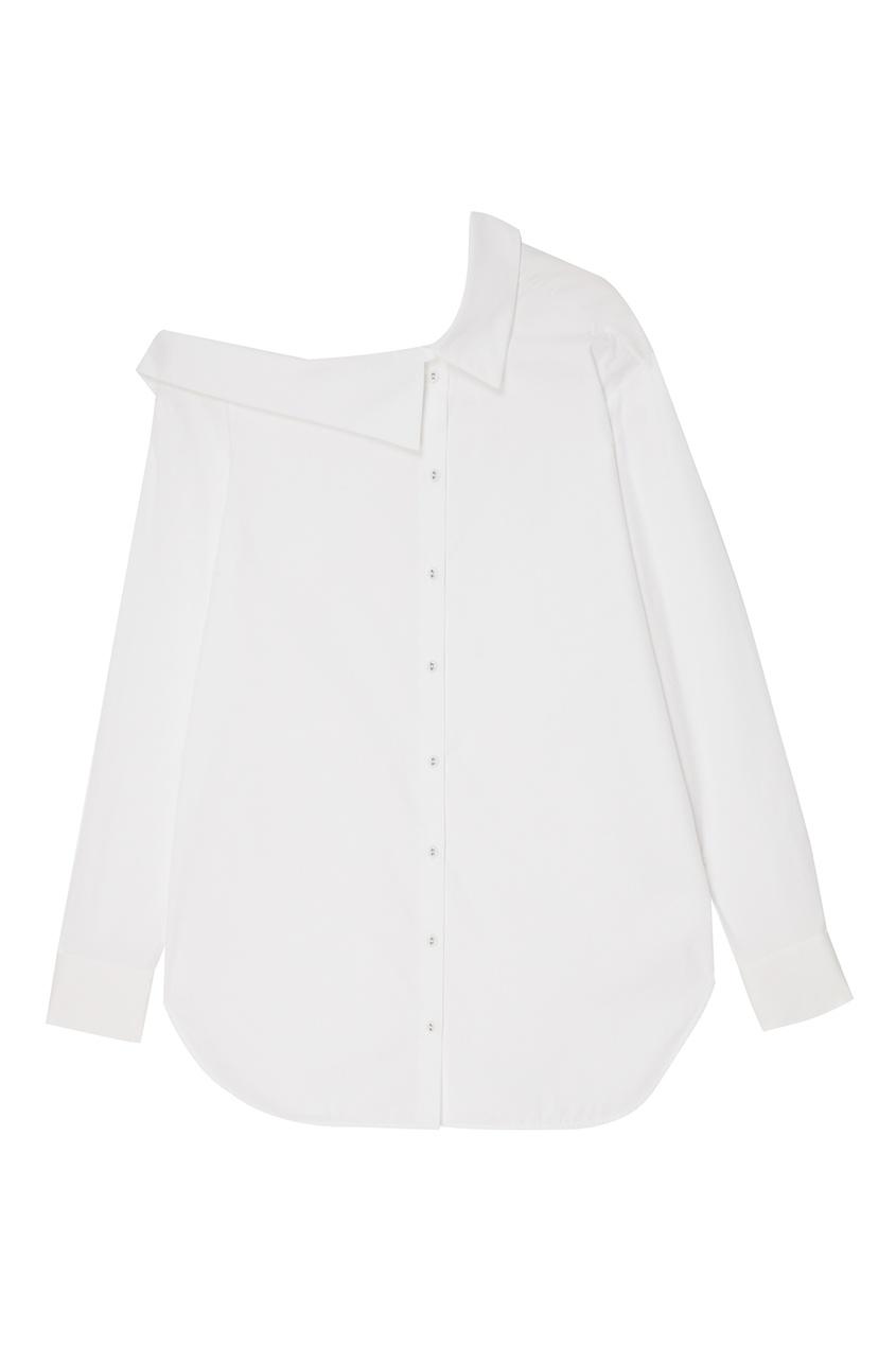 Купить со скидкой Белая хлопковая блузка