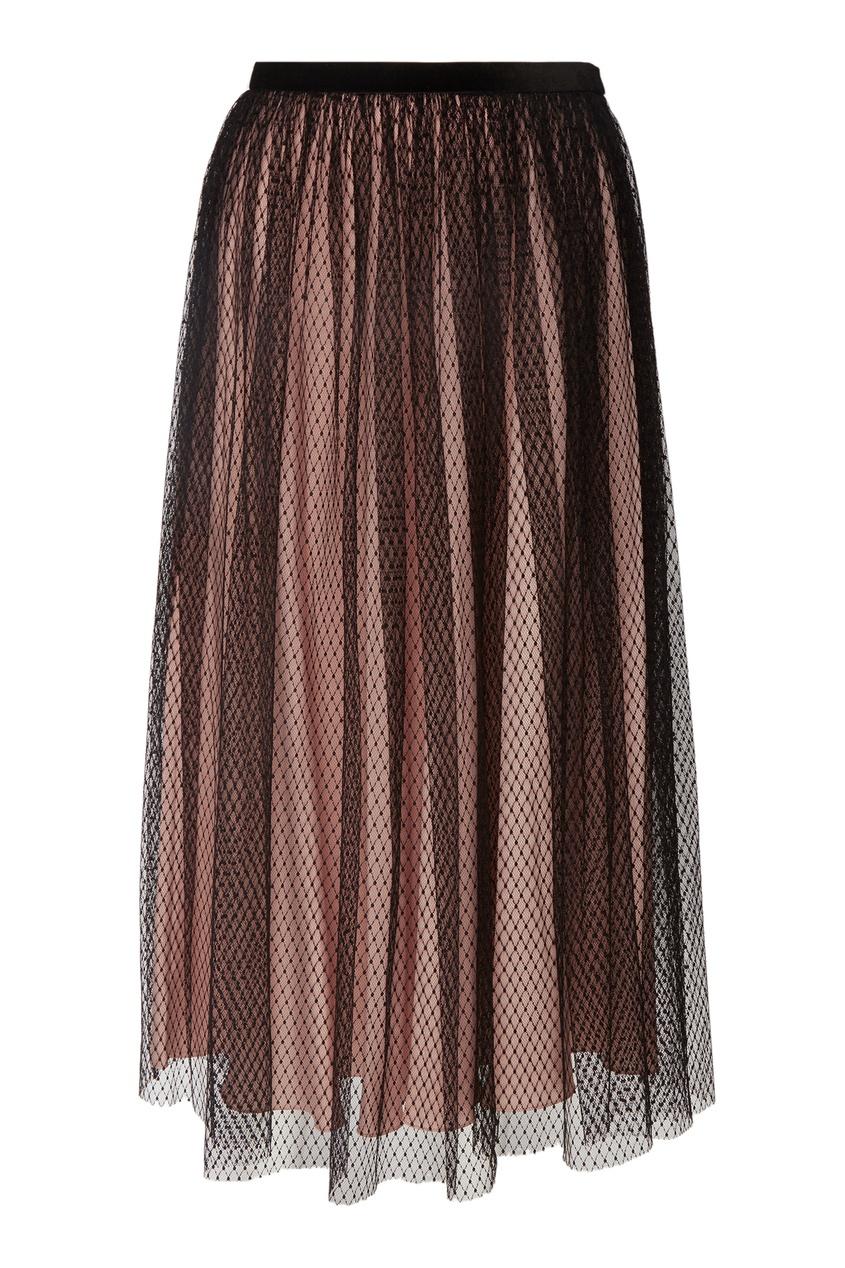Комбинированная плиссированная юбка миди Terekhov Girl