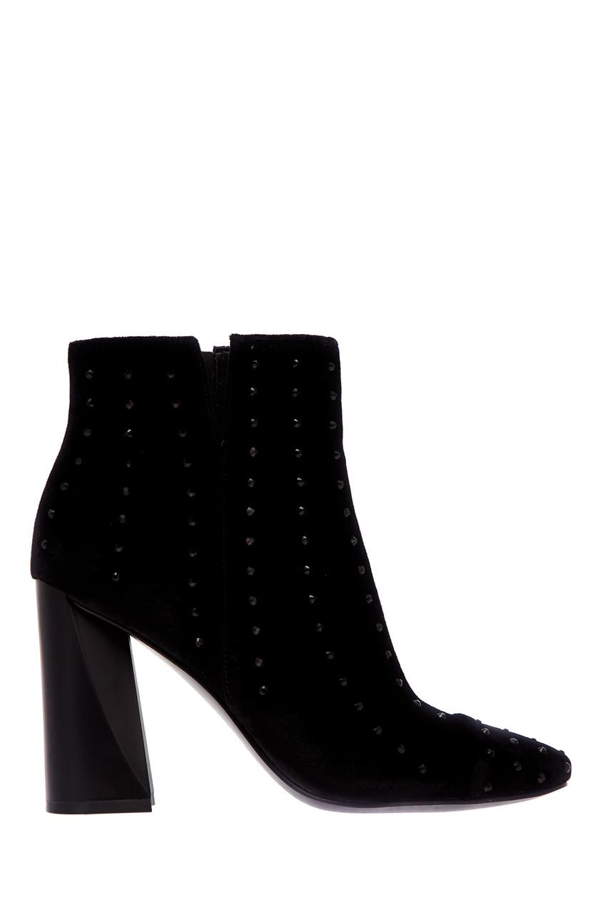 Черные велюровые ботильоны Kendall+Kylie