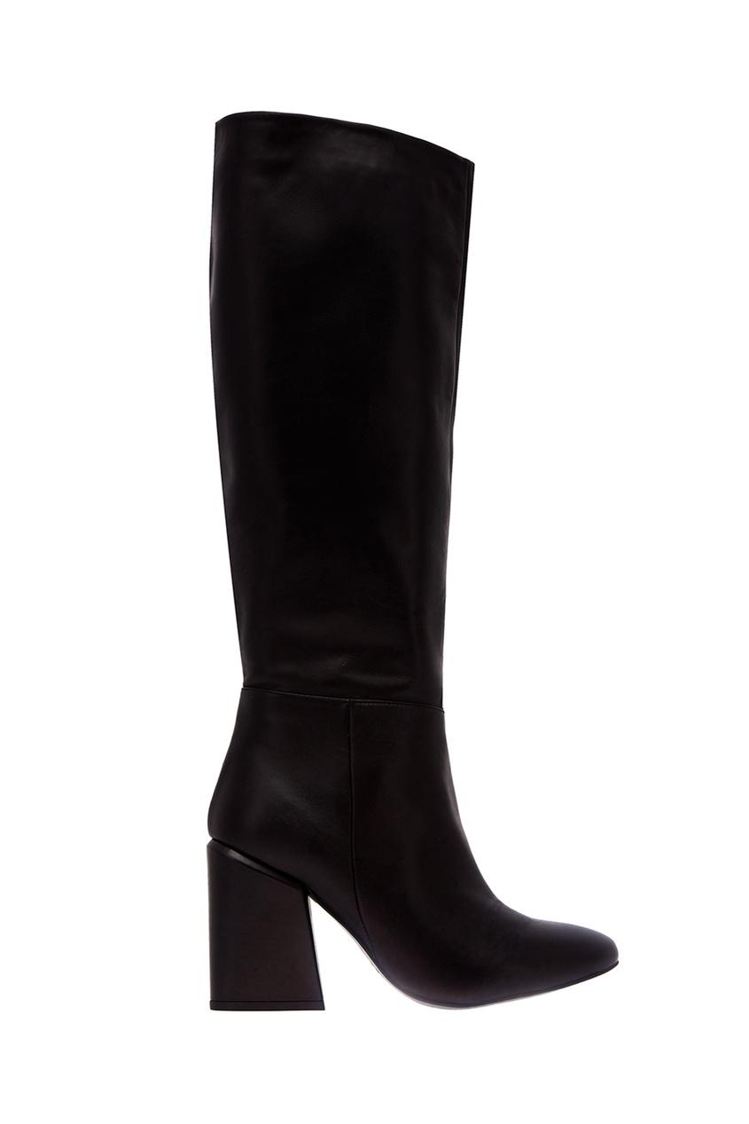 Черные кожаные сапоги, KENDALL+KYLIE