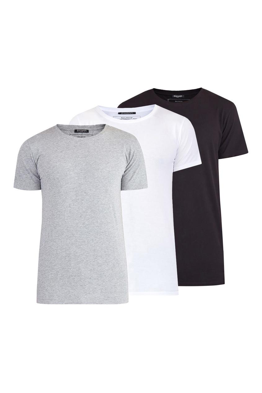 Комплект однотонных футболок от Balmain Man