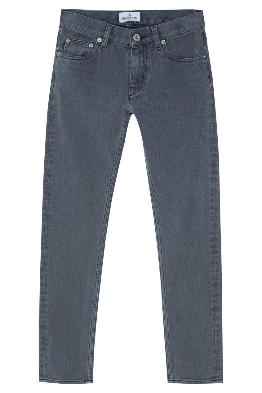 Купить Серые джинсы из хлопка от Stone Island Kids серого цвета