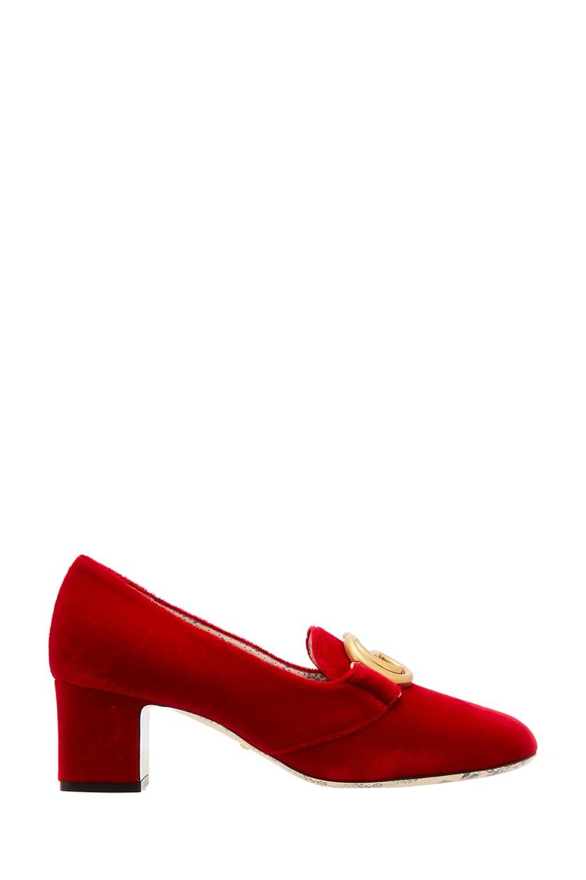 женские туфли gucci, красные