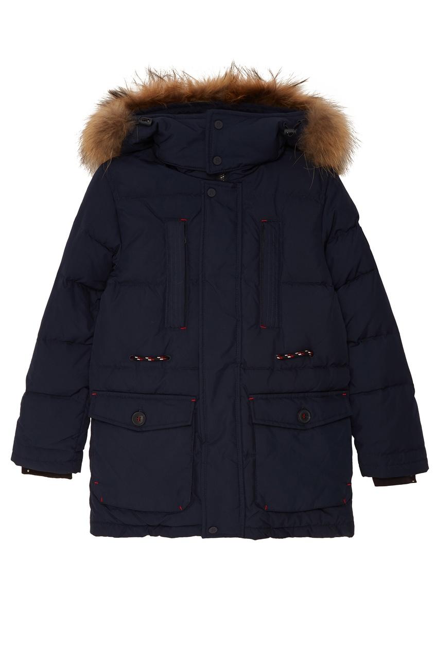 Синяя дутая куртка от Junior Republic
