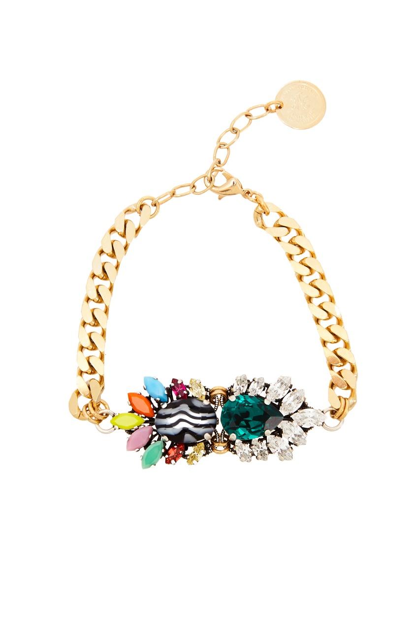 Золотистый браслет с кристаллами от Anton Heunis