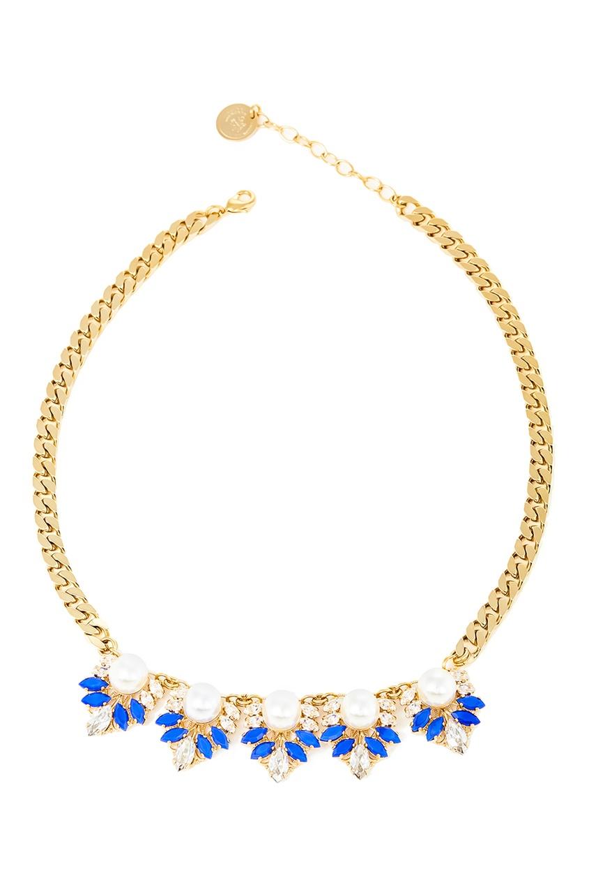 Ожерелье с жемчужинами и кристаллами от Anton Heunis