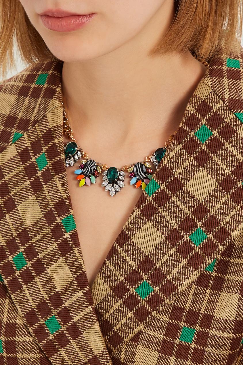 Позолоченное ожерелье с кулонами от Anton Heunis