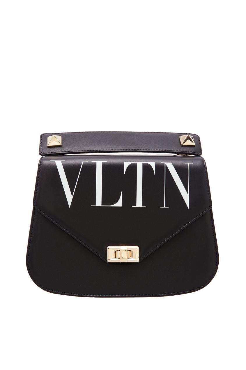 Черная кожаная сумка VALENTINO