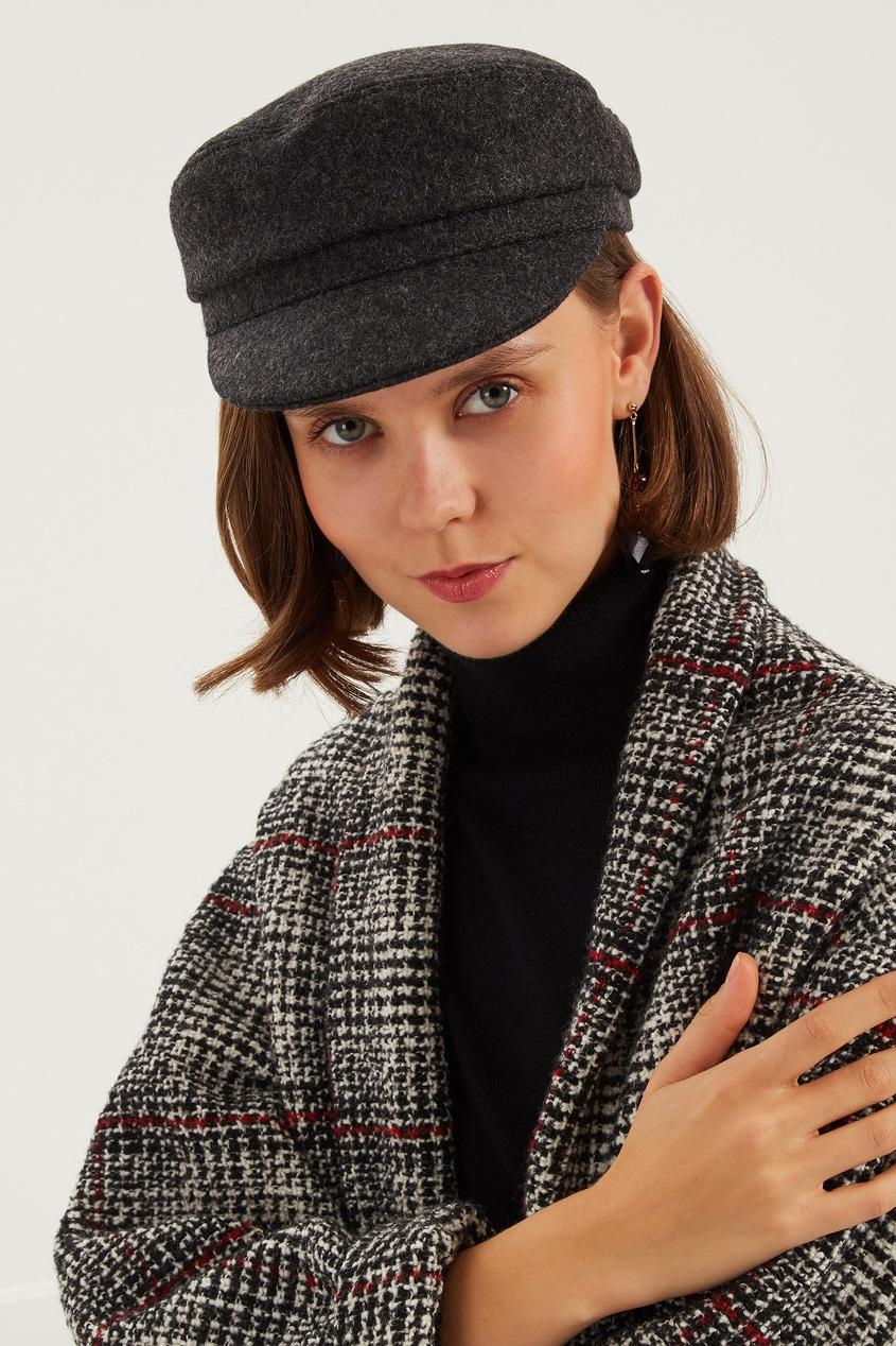 женская кепка isabel marant, коричневая
