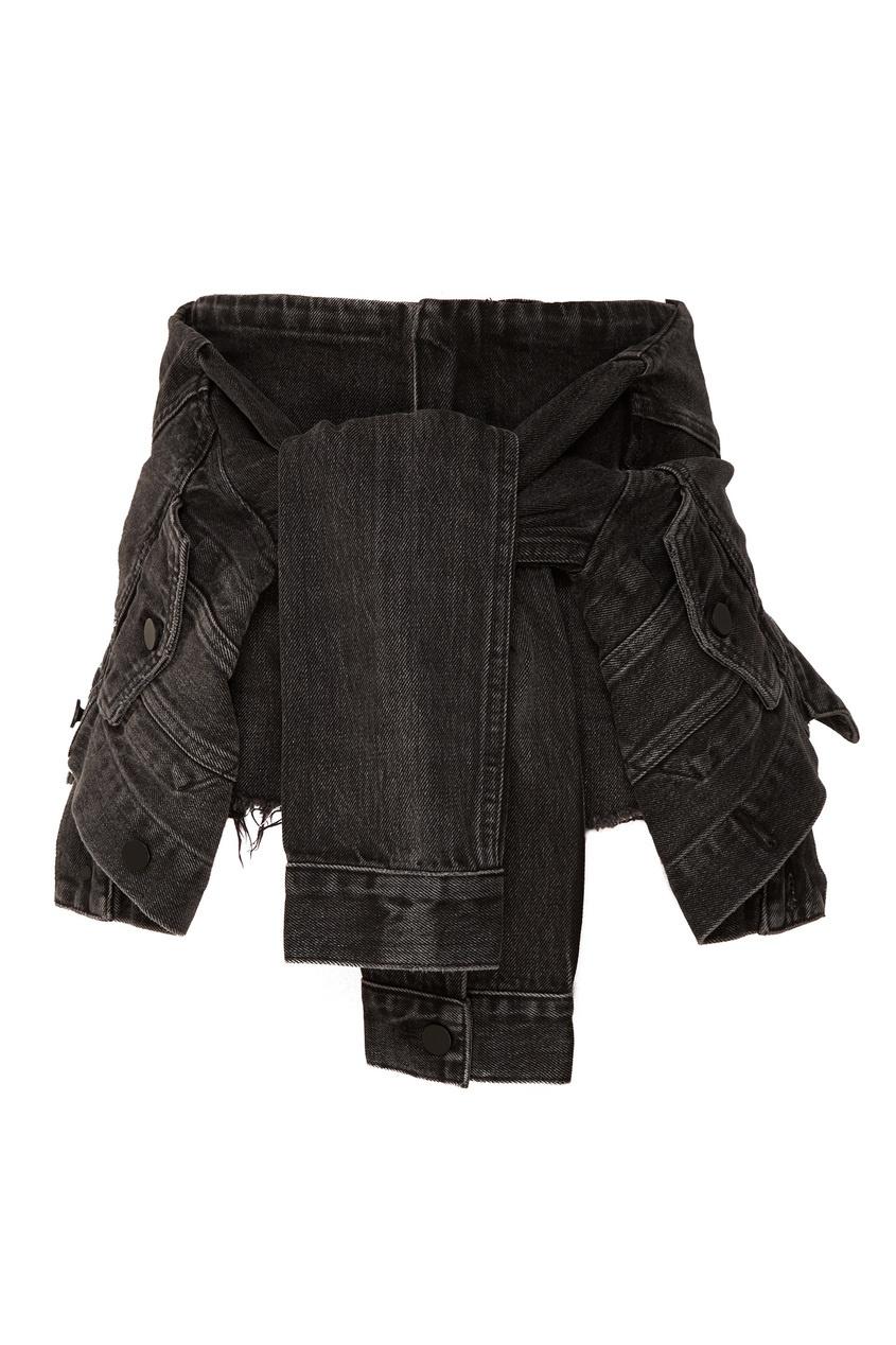 Купить со скидкой Черные шорты из хлопка