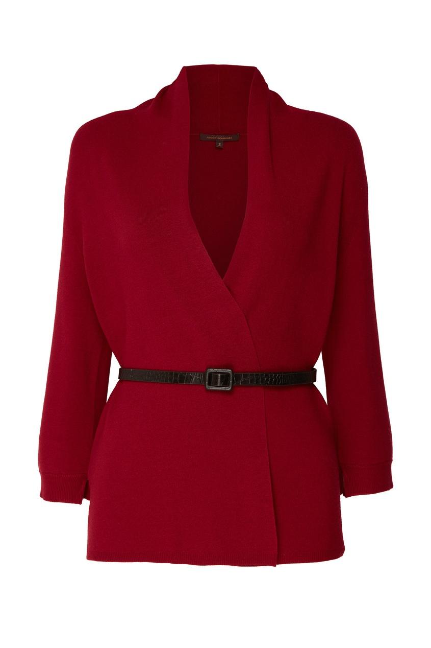 женский кардиган adolfo dominguez, красный