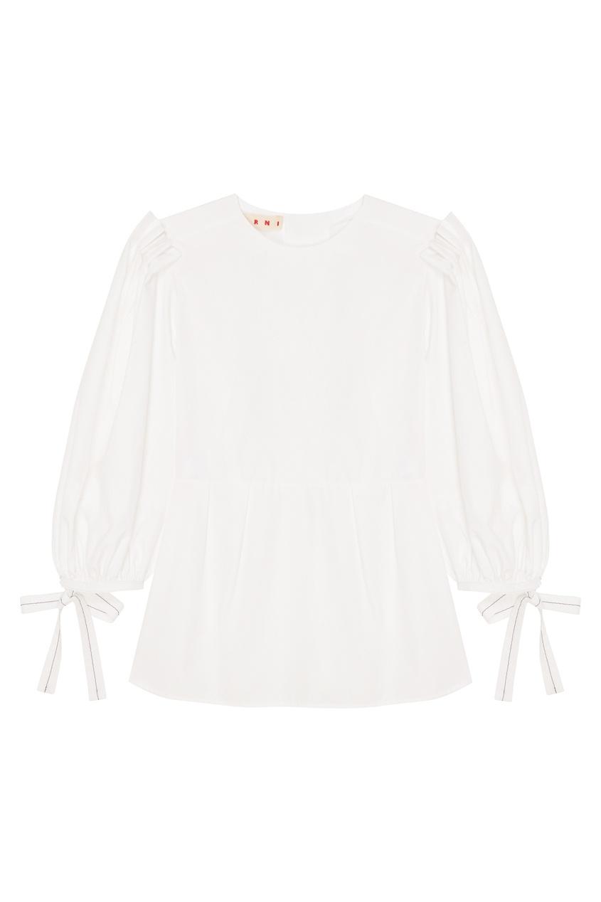женская блузка marni, белая