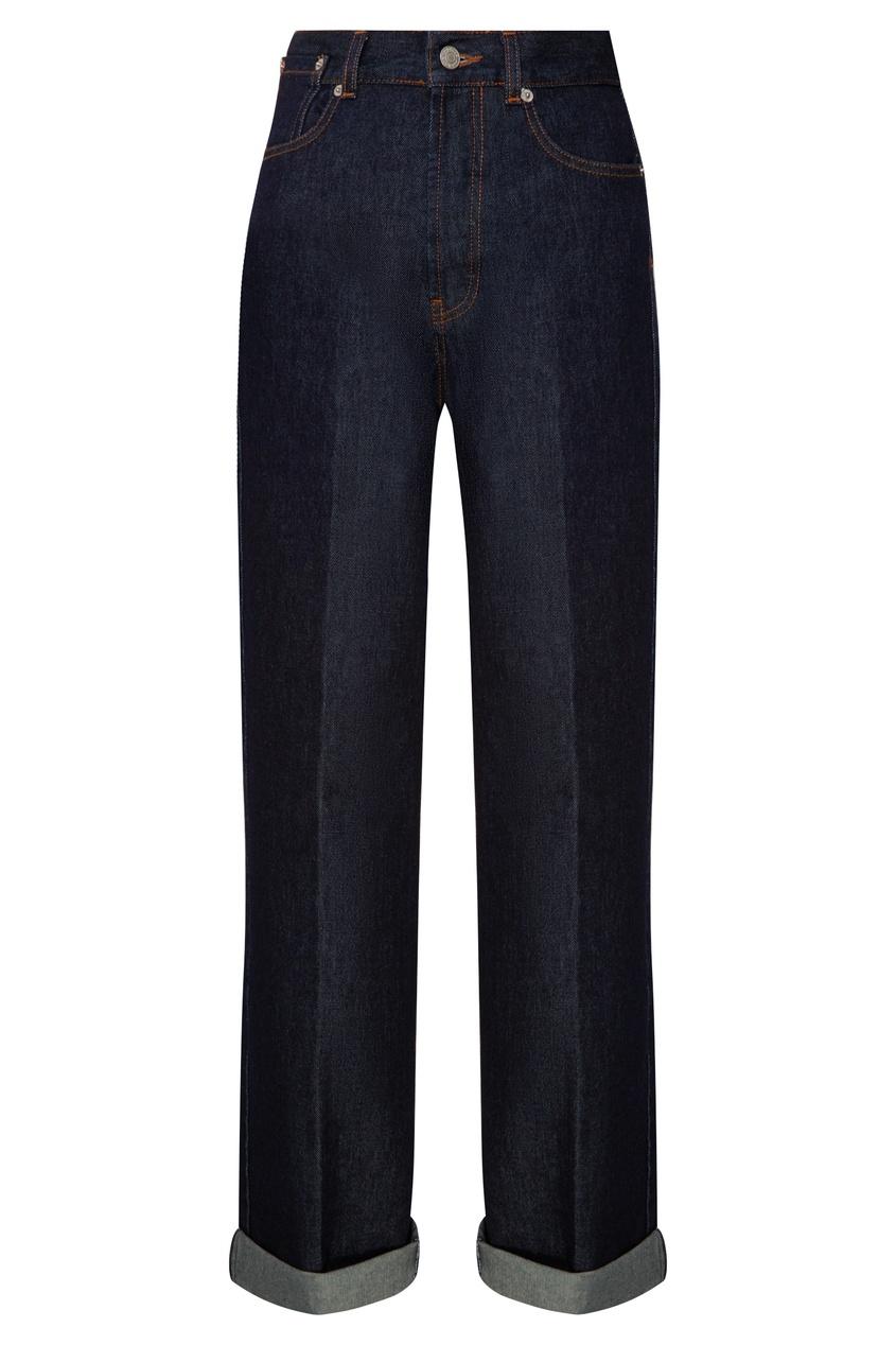 Синие джинсы от Dries Van Noten