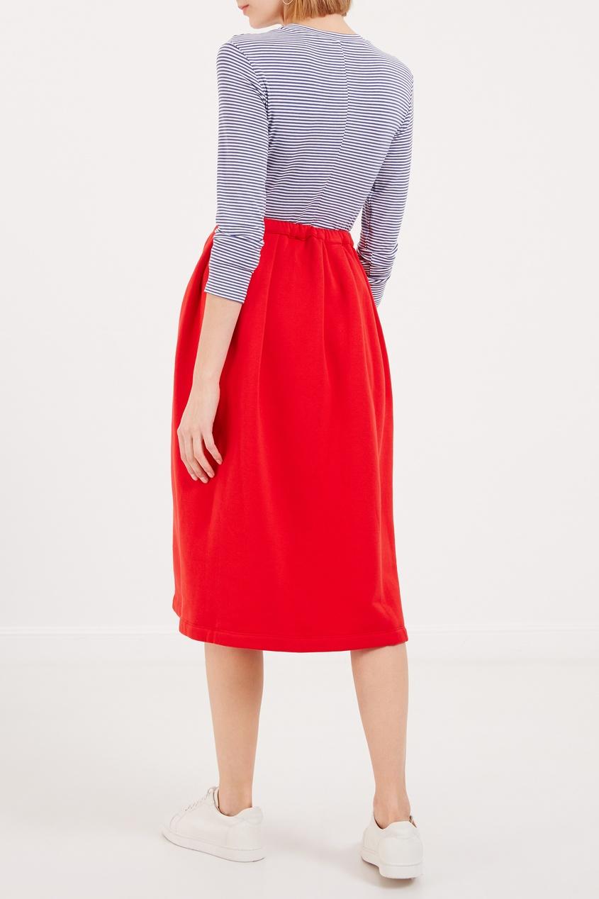 женская юбка marni, красная