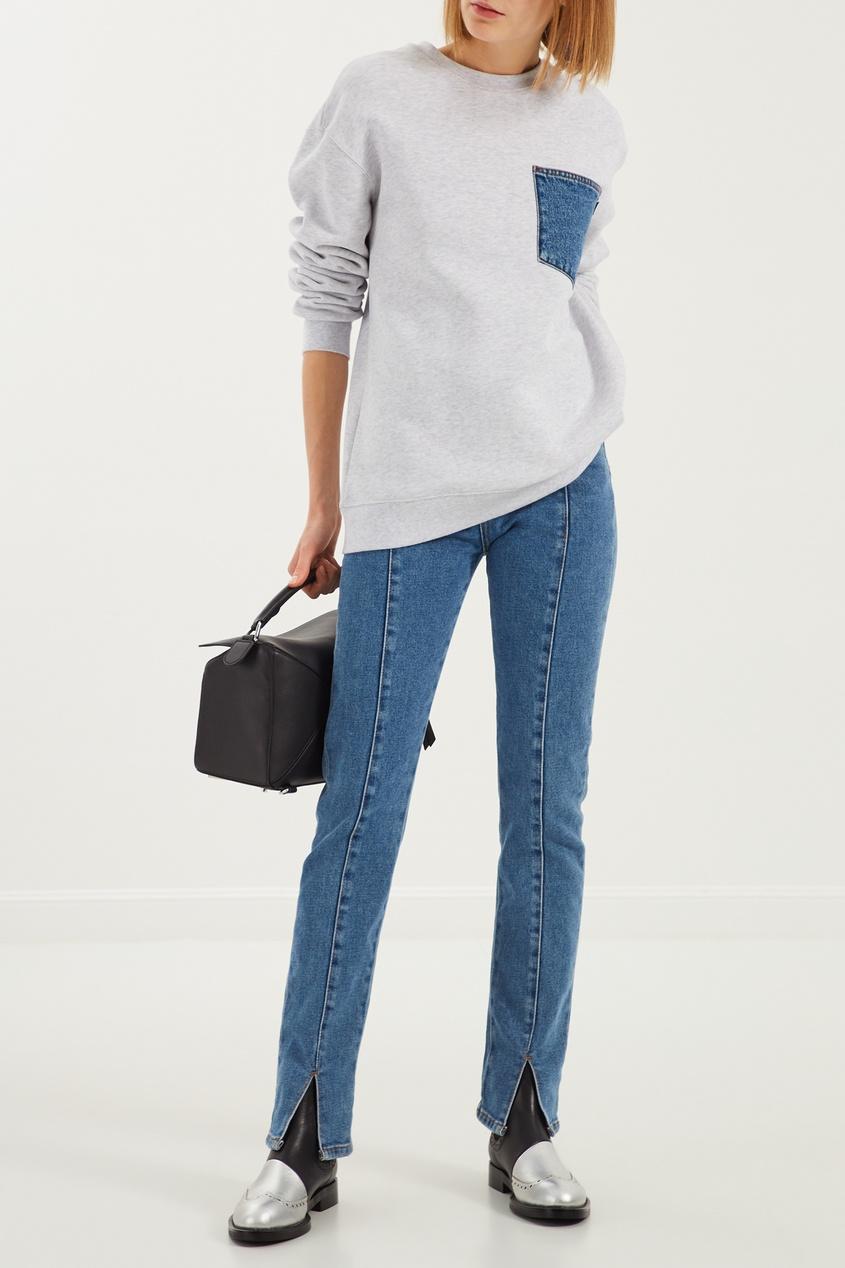 женские джинсы msgm, синие