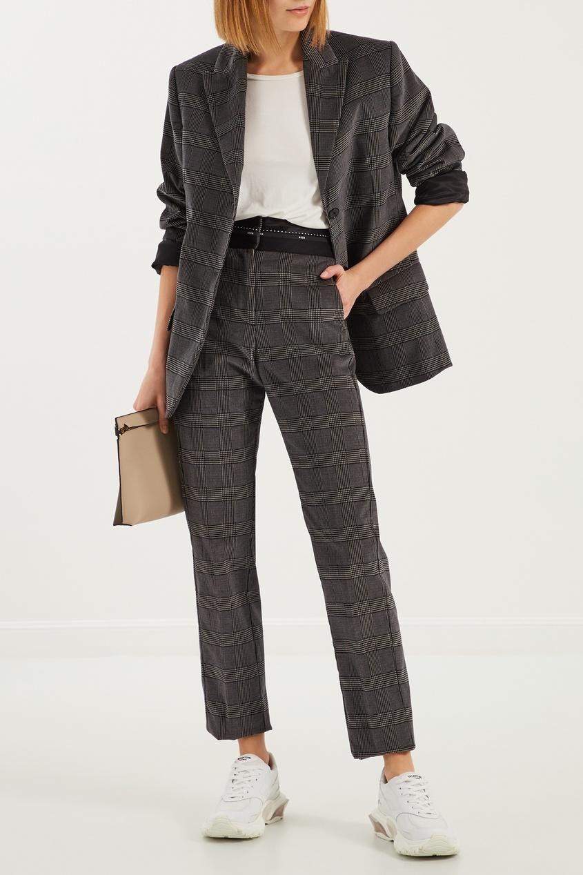женские брюки msgm, серые