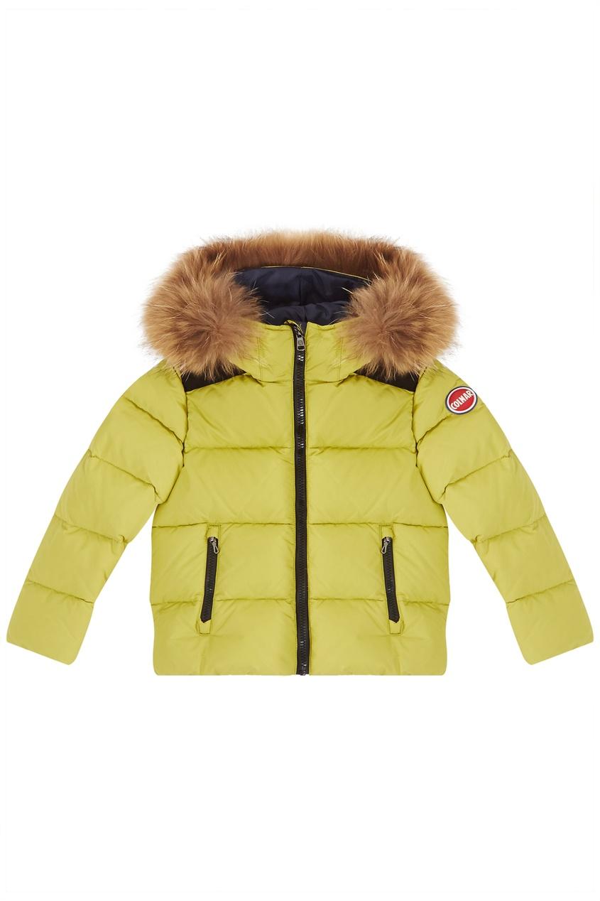 Дутая куртка салатового оттенка Colmar Kids