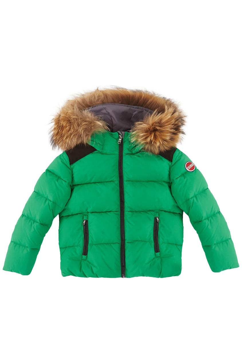 Зеленая дутая куртка от Colmar Kids