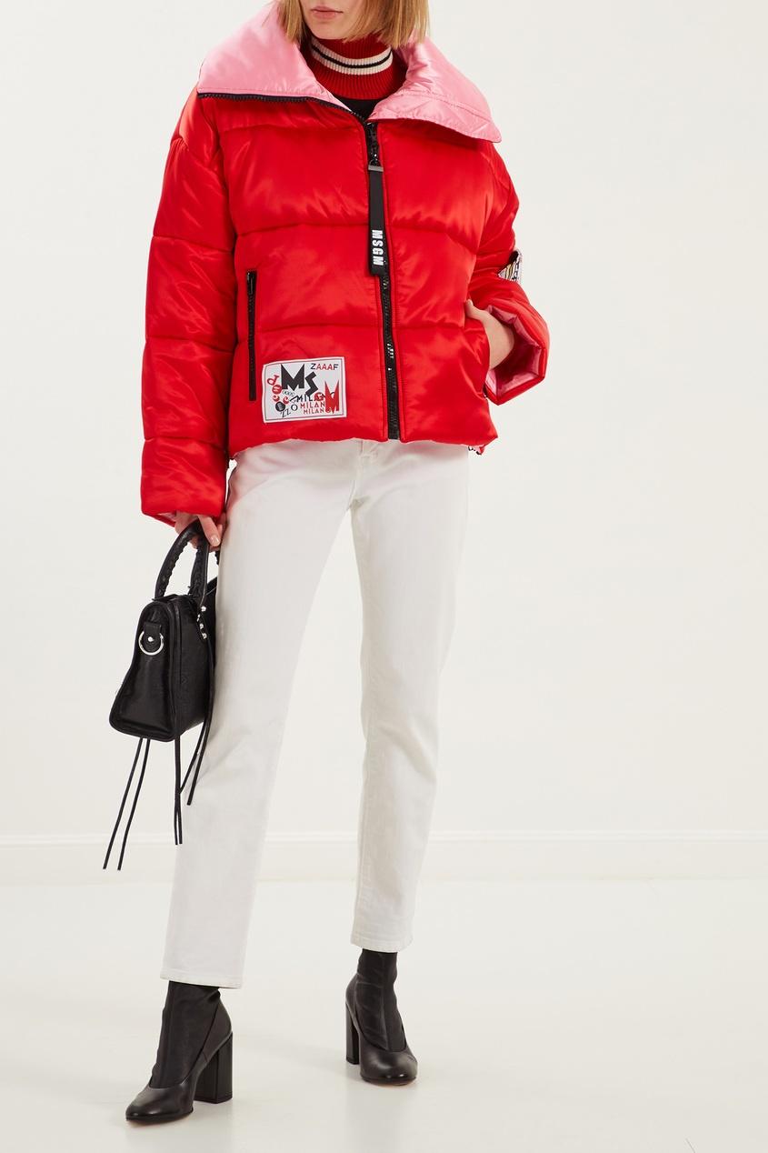женская куртка msgm, красная