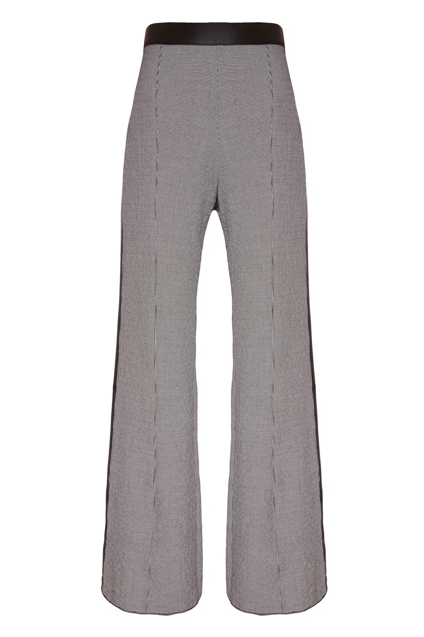 Купить со скидкой Серые брюки с контрастным поясом