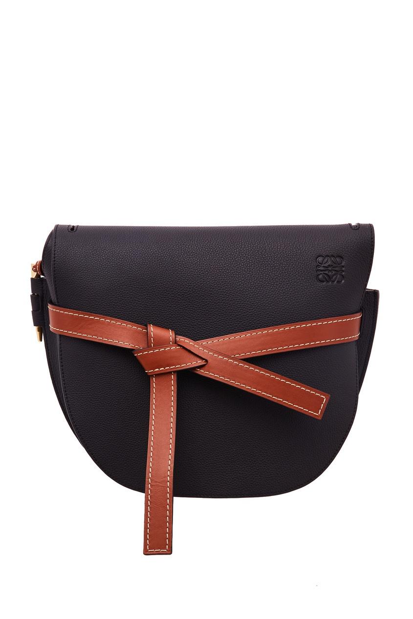 Черная кожаная сумка Gate Loewe