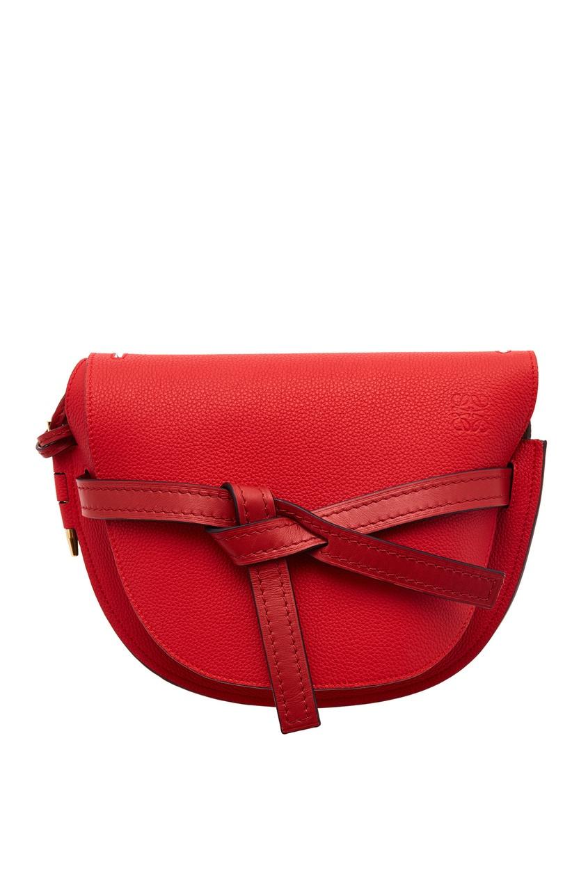 Красная кожаная сумка Gate Loewe